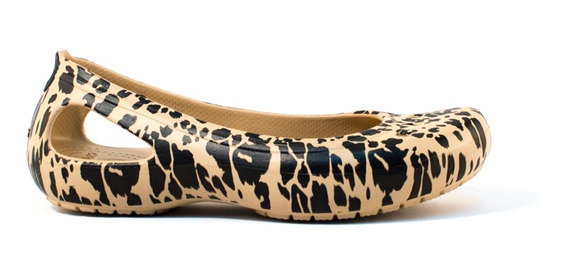 Chata Crocs Kadee Animal Print Flat W C-203105-710