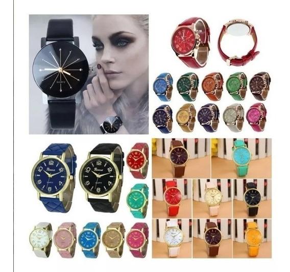 Kit 6 Relógio Feminino Barato Para Revenda Atacado Compre!!