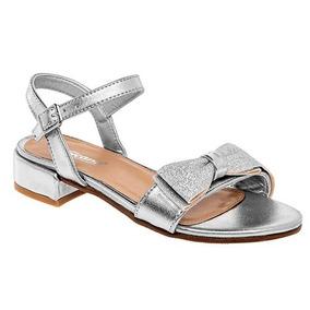 be65f627 Zapatos Sandalia Con Tacon Plateado Para Niña - Zapatos en Mercado ...