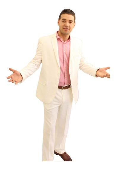 Trajes Caballero Lino Blanco Slim Colucci Envio Gratis