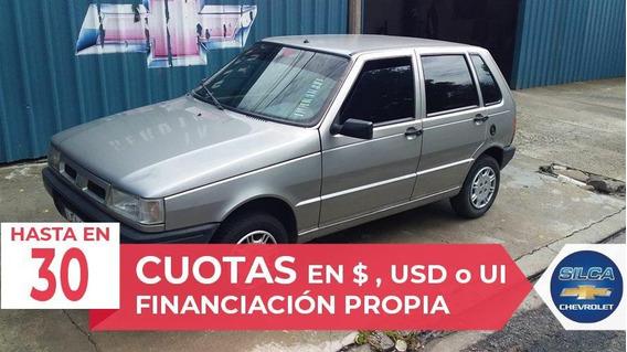 Fiat Uno Diesel 2001 Gris Plata 5 Puertas