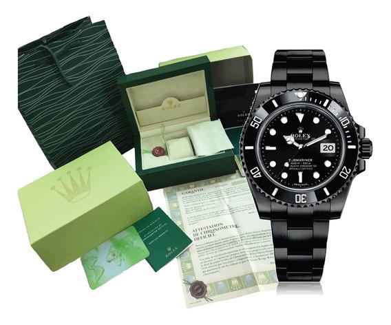 Reloj Rolex Submariner Automatico Negro 40mm Con Caja