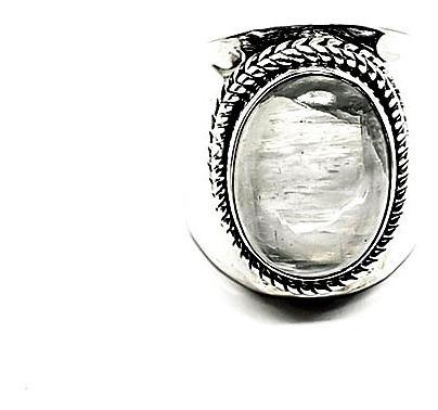 Anel Pedra Da Lua Em Prata - Id 5250