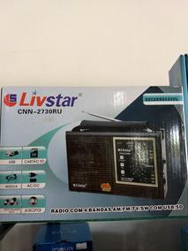 Rádio Livistar Com 4bandas Am/fm/tv/sw Usb /sd