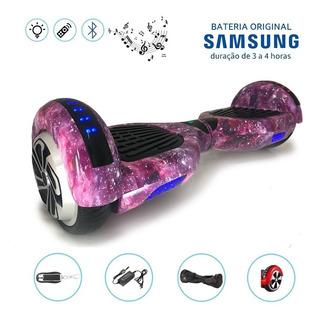Hoverboard 6.5 Full Leds Com Controle Bolsa Bateria Samsung