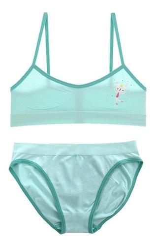 Imagen 1 de 6 de Conjunto Top Y Calzón Bikini Niñas Cn22676-72676