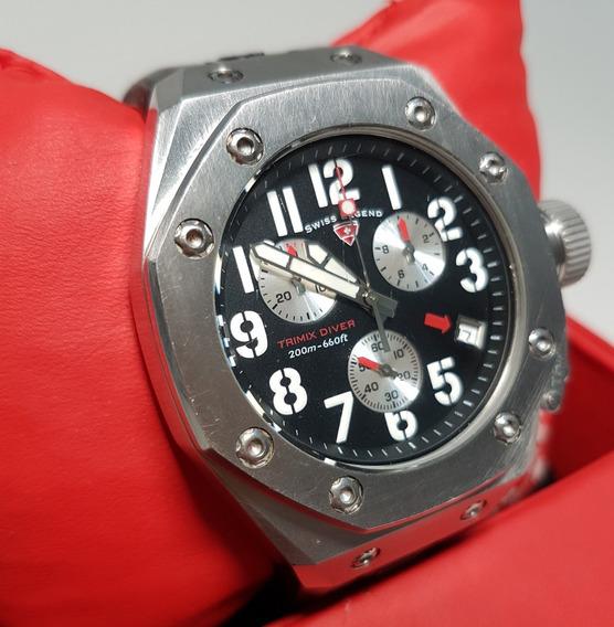 Relógio Suíço Swiss Legend Trimix Diver Aço Inoxidável