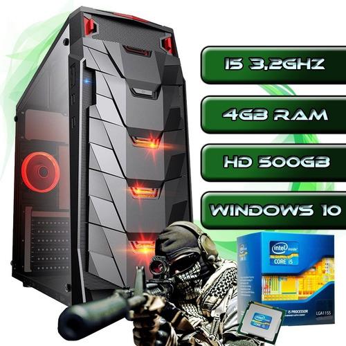 Imagem 1 de 4 de Micro Cpu Gamer I5 3,2ghz / 4gb / Ssd240g / Fonte / Gabinete