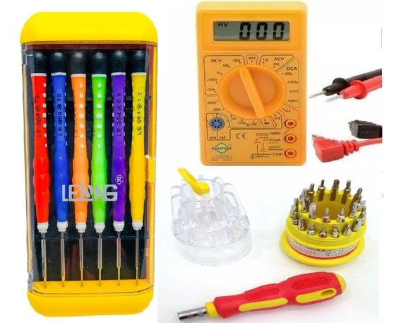 Kit Acessorios Chaves Manutenção Notebook Computador Relógio