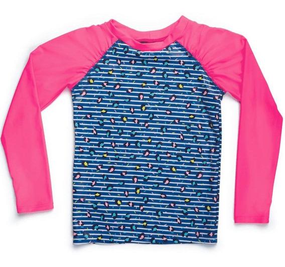 Camiseta Praia Manga Longa Teen Puket Oncinha Azul