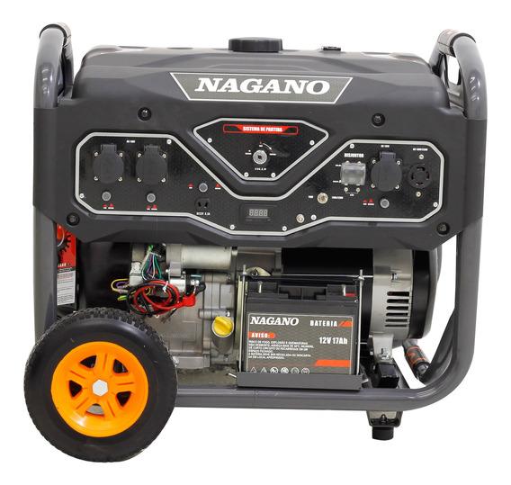 Gerador portátil Nagano NG10000E 9000W monofásico com tecnologia AVR 110V/220V