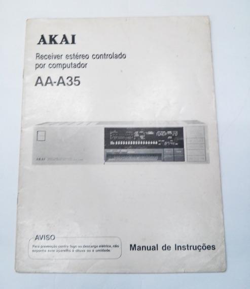 Manual De Serviço Do Receiver Akai Modelo Aa-a35 Original