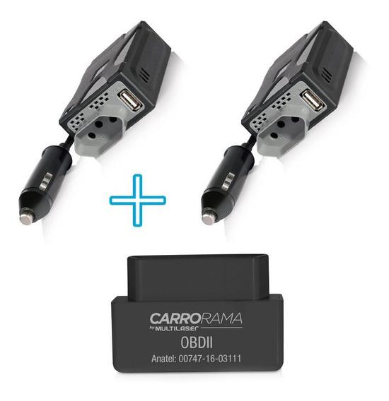 2 Inversor De Potencia 220v + 1 Scanner Carrorama Automotivo