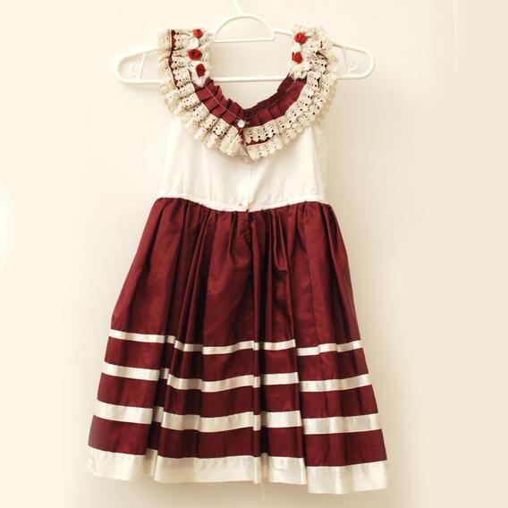Roupas Para Estúdio:vestido Vermelho Com Faixa Branca