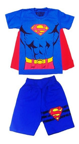 Conjunto Infantil Masculino Roupas De Menino Camiseta+ Short