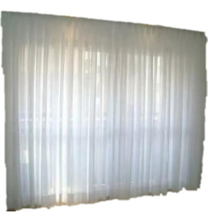 Cortinas Voile P/ventanal (6mts 2 Paños 3m An X 2.1m Lar)