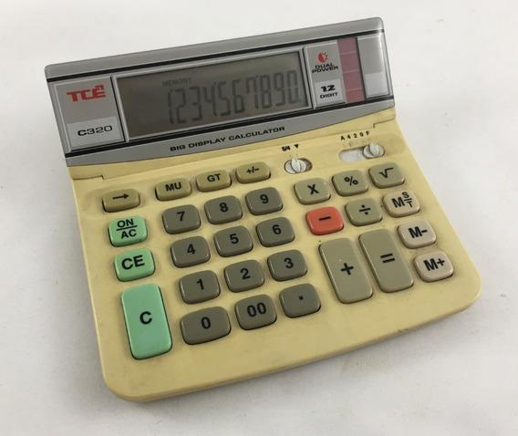 Calculadora Antiga Tce Modelo C320 Dual Power Funcionando