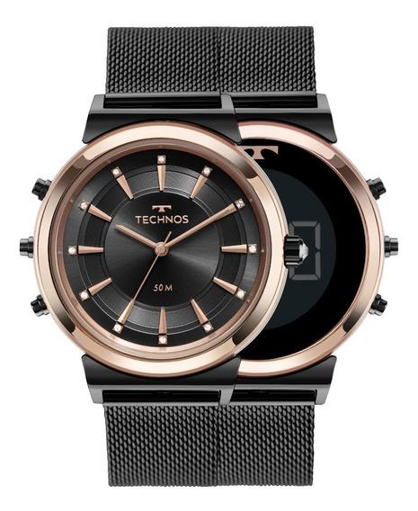 Relógio Curvas Technos Feminino Bicolor 9t33ab/4p