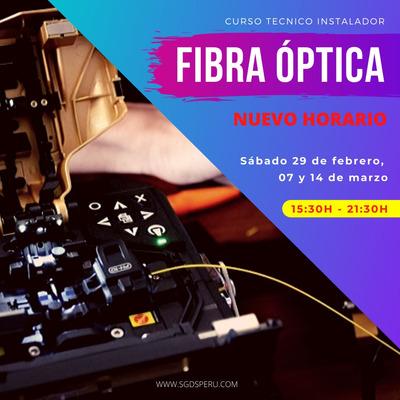 Curso Técnico Instalador De Fibra Óptica