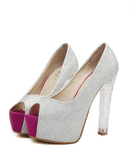 Sapato Feminino Importado Cristal Com Strass - Frete Grátis