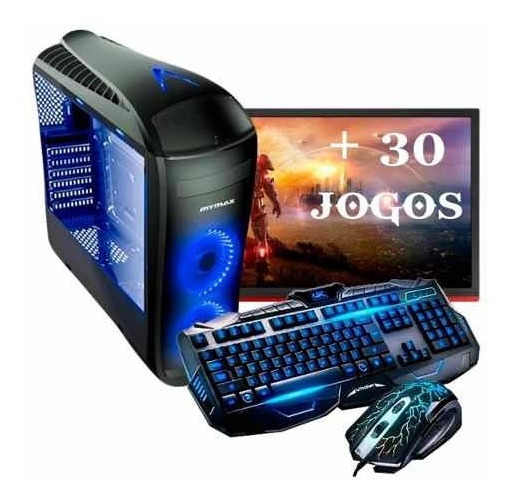 Pc Completo Gamer I5 7400, 1050 4gb , 21.5 8gb + 30 Jogos!