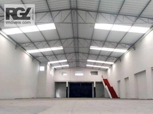 Galpão Para Alugar, 750 M² Por R$ 13.000,00/mês - Macuco - Santos/sp - Ga0058