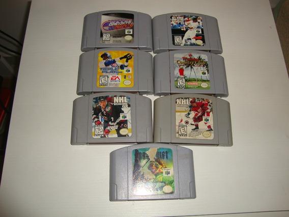 Lote De 7 Jogos Originais Americanos Para Nintendo 64