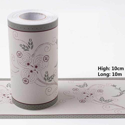 Guarda Adhesiva Con Flores 10cmx10mt