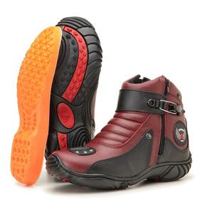a4327dd78 Botas Coturnos Atron Shoes para Feminino Vermelho no Mercado Livre ...