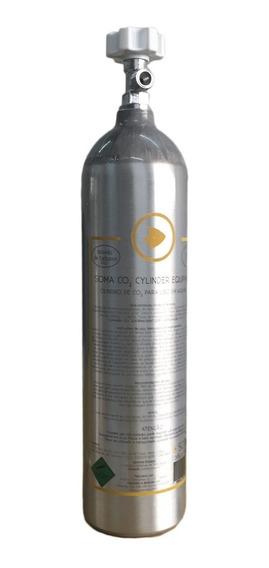 Cilindro De Co2 Alumínio Soma 3l Reator Calcio Ou Plantados