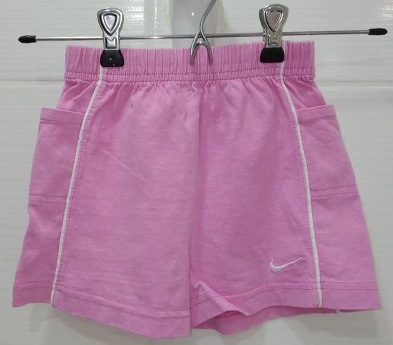 Short Nena Rosa Talle 3 Nike Con Bolsillos Laterales