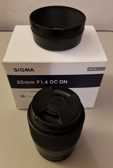 Lente Sigma 30mm 1.4 Dc Dn E Mount Sony