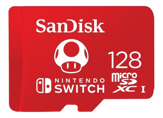Cartão Micro Sdxc Sandisk® Nintendo Switch - 128gb
