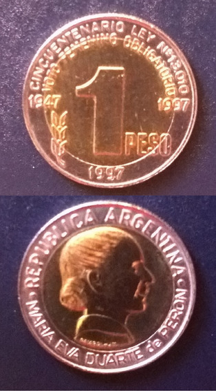 Argentina 1 Peso Convert. 1997. Voto Femenino. Sc.