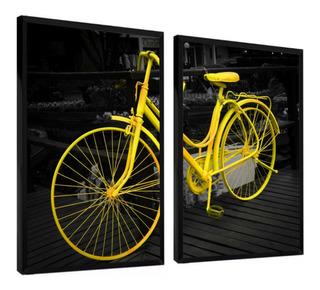 Quadro Decorativo Bicicleta Mosaico Bike Retro Vintage
