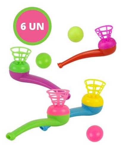 Imagem 1 de 6 de Jogo De Sopro Cachimbo E Bolinha Brinquedo Infantil Colorido