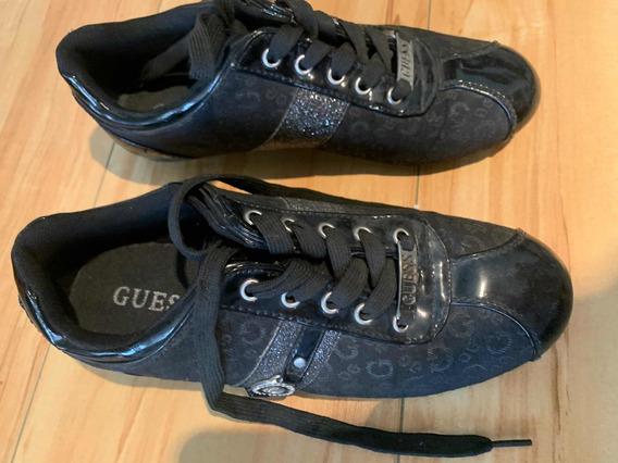 Zapatillas Guess Negras Con Strass Talle 36.5