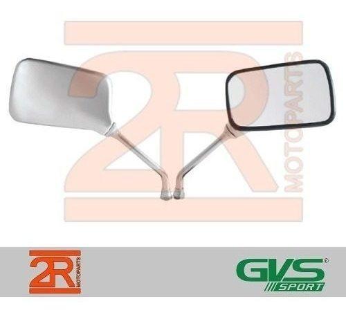 Retrovisor Moto Gvs Strada Twister Cromado Honda Par Rosca