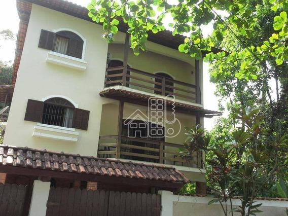 Casa Com 4 Dormitórios À Venda, 260 M² Por R$ 550.000 - Fonseca - Niterói/rj - Ca1114