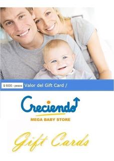 Tarjeta Gift Card De Regalo Creciendo