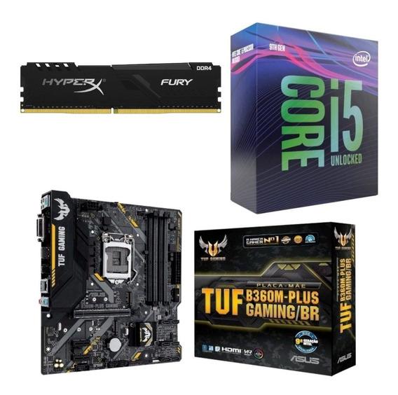 Kit Intel I5 9600k + Tuf B360m Plus Gaming + Hx 8gb 2666mhz