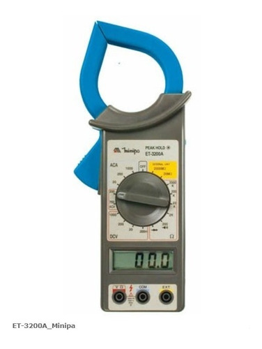 Imagem 1 de 1 de Alicate Amperímetro Digital Minipa Et-3200a