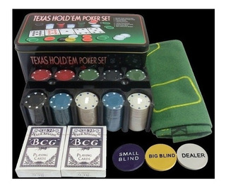 Texas Hold Em 200 Fichas Set De Poker Profesional Blind