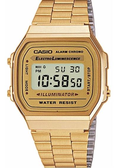 Relogio Digital Casio A168wg-9 Unissex Retrô Dourado Origina