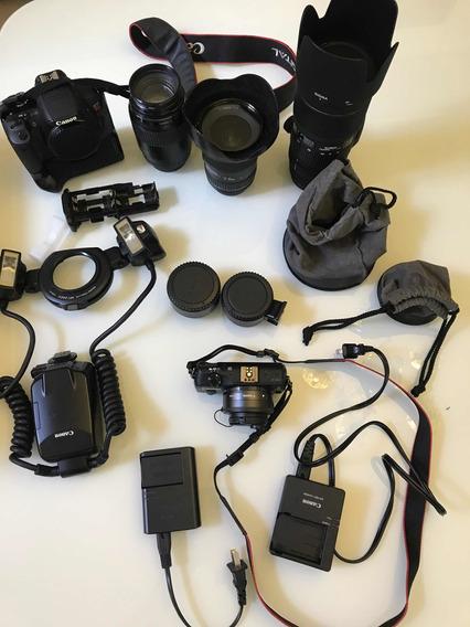 Máquina Fotográfica Cânon T4i Com Grip