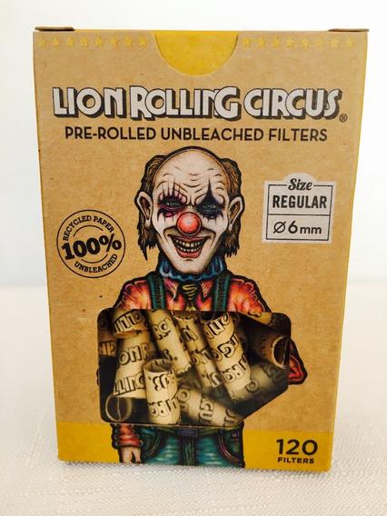 Filtros Lion Rolling Circus Pre Rolled X120 Unidades Armados