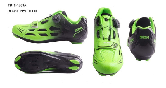 Zapatillas Zapatos Bicicleta Ruta Sbk Ciclismo Tb16-b1259