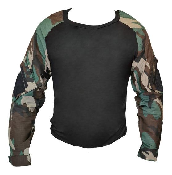 Remera Táctica Combate Combat Shirt Camuflada Mangas Ripstop