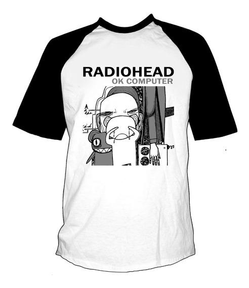 Remera Combinada Radiohead Ok Computer