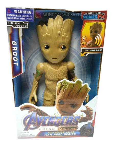 Muñeco De Baby Groot Con Luz Y Sonido 30cm